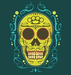Decorative skull color vector