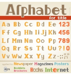 Alphabet for title vector