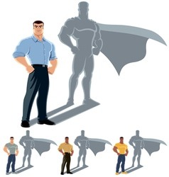 Man superhero concept vector