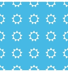 Sun straight pattern vector