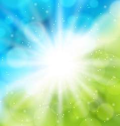 Cute nature background with lens flare vector