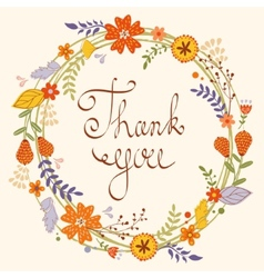 Beautiful thank you card vector