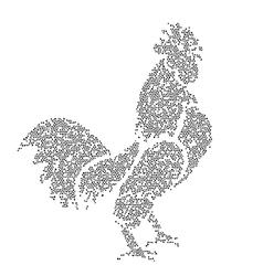 Image of an cock design vector