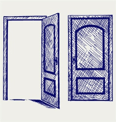 Open door vector