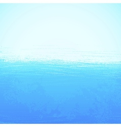 Abstract bright painted blue ocean background vector
