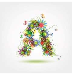 Floral letter for your design vector