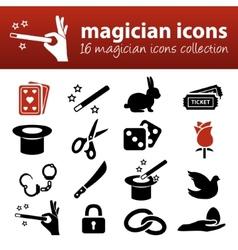 Magician icons vector