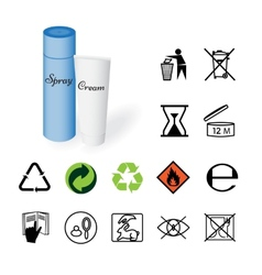Warning signs environmental signs product vector