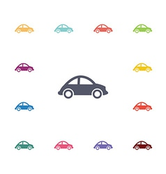 Mini car flat icons set vector
