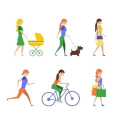 Active people lifestyle healthy life vector