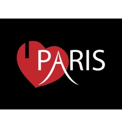 I love paris vector