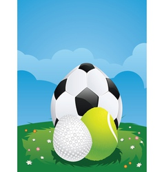 Egg shaped sport balls2 vector