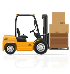 Forklift truck 06 vector