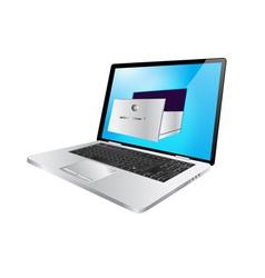 Laptop safe vector