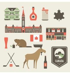 Canada icons vector