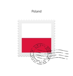 Poland flag postage stamp vector