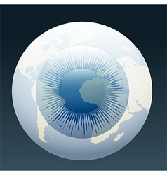 Eyeball globe vector