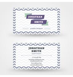Creative business card design print template vector