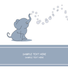 Elephant bubble vector