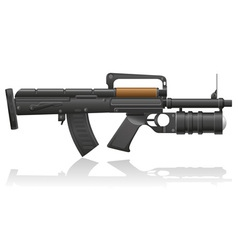 Machine gun with a grenade launcher vector