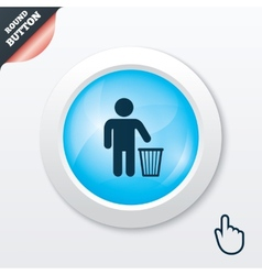 After use to throw in trash recycle bin sign vector