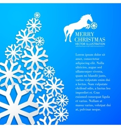 Snowflake and bright christmas background vector