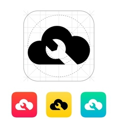 Repair cloud icon vector