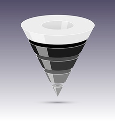 Conversion or sales funnel 3d graphics vector