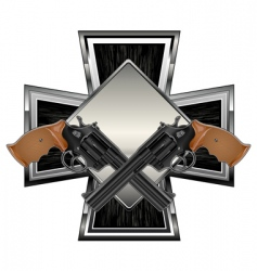 Guns on cross vector