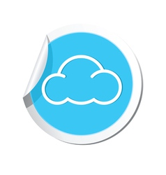 Weather forecast cloud icon vector