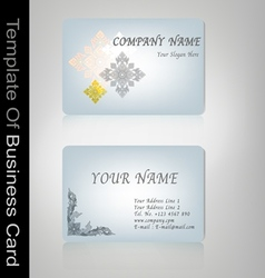 Business card thai style vector