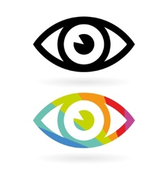Eye icons vector