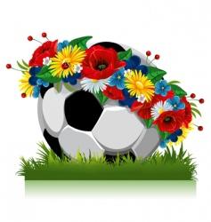 Soccer ball euro 2012 symbol vector