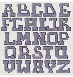 Font 3d scribble vector