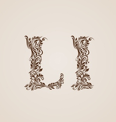 Decorated letter l vector