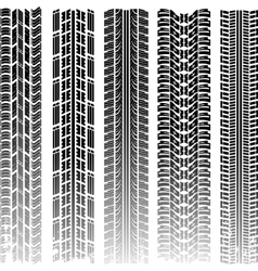 Dirty tire tracks vector