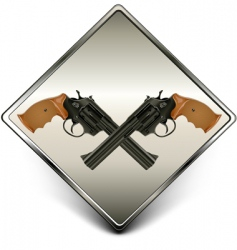 Guns sign vector