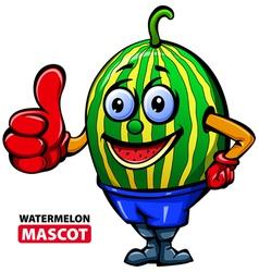 Watermelan mascot vector