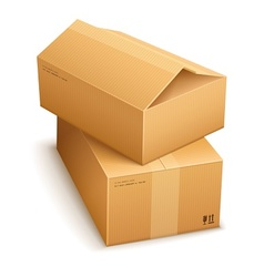 Cardboard boxes for mail vector