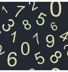 Endless pattern numbers vector