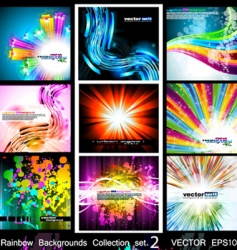 High tech glossy backgrounds vector