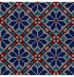 Seamless norwegian embroidered winter pattern vector