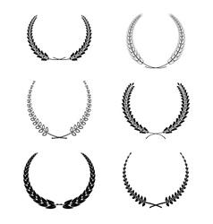 Set of garlands vector