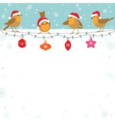 Christmas birds vector