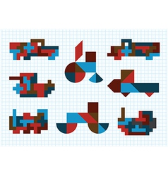 Tangram ground transportation on a white backgroun vector
