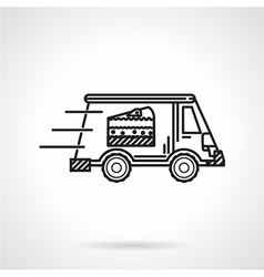 Black line icon for food delivery vector