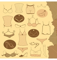 Set of clothes woman vector