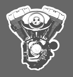 Vintage motorbike engine vector