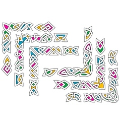 Celtic ornament patterns with colorful elements vector