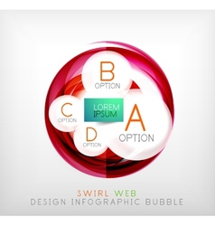 Circle web design bubble  infographic elements vector